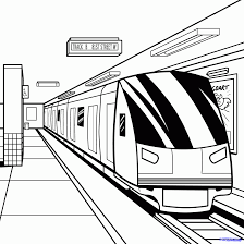 metro train coloring pages