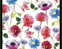 floral tissue paper wildflower tissue paper 331 10 large sheets beautiful