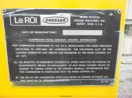 leroi 185 air compressor item l4960 sold august 25 cons
