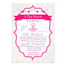ballerina baby shower invitations damask tutu ballerina baby shower invitations aqua zazzle