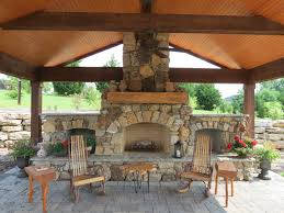 Snap Together Patio Pavers by Natural Stone Fireplace With Wood Storage And Brick Paver Patio