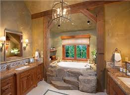 country rustic bathroom ideas i like the stonework on the tub homey country rustic bathroom by