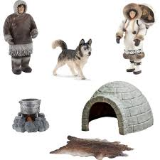 Dog Igloos Miniature Inuit Eskimo Set 7 Figures U2013 Self Help Warehouse