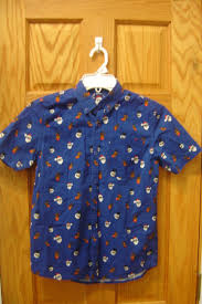 rebel size 12 13 158cm blue christmas theme butotn up short sleeve