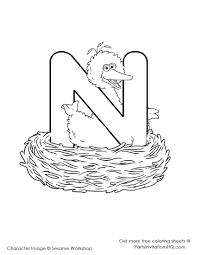 n is for nest coloring pages