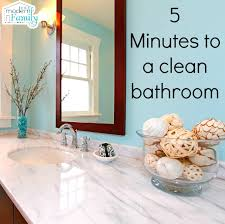 how to clean mirrors in bathroom clean the bathroom in five minutes