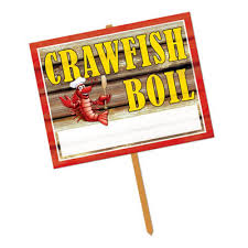 crawfish party supplies bulk crawfish party supplies crawfish boil yard sign 6cs