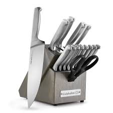 kitchen knives block set classic sharpin 15 pc self sharpening stainless steel knife block set