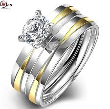 stainless steel wedding ring sets compare prices on couples promise rings promise ring sets online