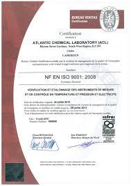 bureau veritas cameroun atlantic chemical laboratory co ltd certifications