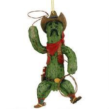 cowboy cactus ornament bronners decorations