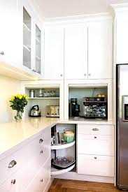 kitchen appliance storage ideas narrow corner kitchen cabinet diy best kitchen appliance
