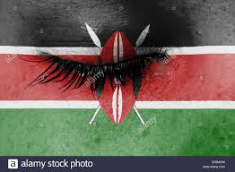 Flag Of Kenya Crying Woman Pain And Grief Concept Flag Of Kenya Stock Photo