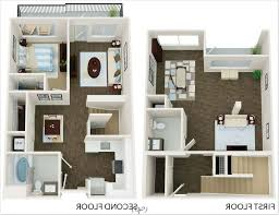 Two Bedroom Flat Floor Plan Marvelous Two Bedroom Apartment Design Ideas With Small 2 Bedroom