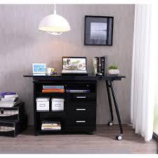 bureaux avec rangement bureau informatique noir brillant avec rangement