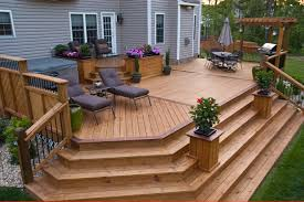 Dream Decks by Deck With Planters U0026 Wide Steps Cascading Down Home Sweet Home