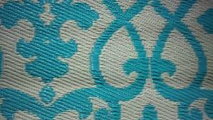 Teal Outdoor Rug Fab Habitat At Wmc New Venice Collection Cream And Turquoise Rug