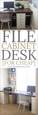 Diy File Cabinet Desk Diy File Cabinet Desk Tutorial The Big Moon