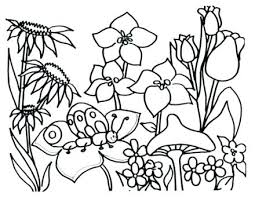 coloring pages to print spring spring flowers coloring pages spring coloring spring butterflies