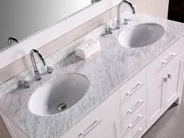 Marble Sink Vanity Bathroom White Marble Vanity Top With Tile Flooring For Modern