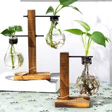 Flower Table L Vintage Style Glass Tabletop Plant Bonsai Flower Wedding