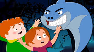 scary flying shark scary nursery rhymes songs for children
