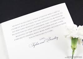 Thank Yous On Wedding Programs Beauty And The Beast Fairytale Wedding Programs