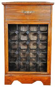 wine rack wood cabinet with counter and drawer hold 20 bottles