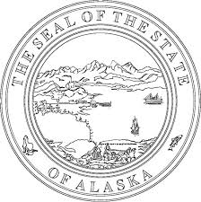 alaska flags emblems symbols outline maps