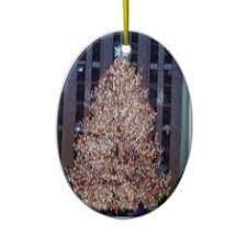 nyc rockefeller center tree ceramic ornament