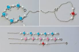 diy bead chain bracelet images Diy colorful crackle glass beads bracelets with chain henry jpg
