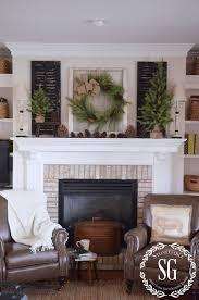 christmas mantels 10 farmhouse style