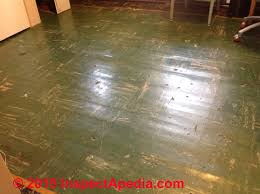 color guide to identify asphalt asbestos vinyl asbestos floor tiles