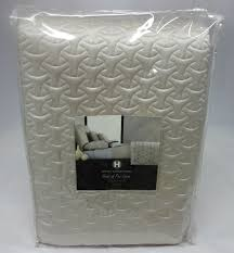hotel collection rings quilted coverlet oyster king