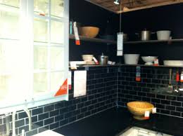 black subway tile kitchen backsplash ikea kitchen vignette with black subway tile backsplash flickr