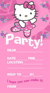 create invitations online free to print best 25 hello kitty invitation card ideas on pinterest hello