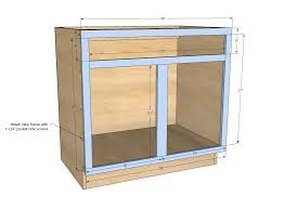 plans for building kitchen cabinets ana white build a 36 sink base kitchen cabinet momplex vanilla