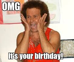 Birthday Memes For Facebook - richard simmons birthday funny happy birthday meme