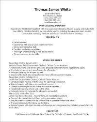 Commercial Real Estate Resume Real Estate Resumes 17 Real Estate Resume Sample Jennywashere Com