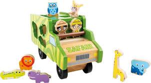 jeux en bois pour enfants bois bus formes à trier avec multi couleur animaux blocs jouets