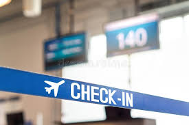 check in desk sign check in desk at airport stock photo image of registration 103769678