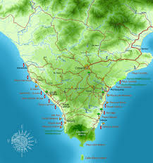 Map Costa Rica Southern Nicoya Penisula Map