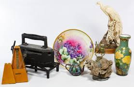 Asian Wall Fans by Lot 423 Decorative Object Assortment Eight Items Including A