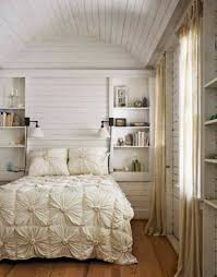small romantic bedroom design with elegant bedding small