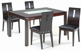 Glass And Wood Dining Tables Glass And Wood Dining Tables Copy Black And White Dining Chairs