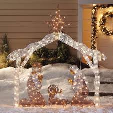 lighted outdoor nativity furniture lighted outdoor nativity for sale lighted