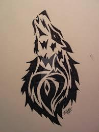tribal wolf tattoo by lostamongstars on deviantart