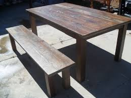 Dining Room Tables Made In Usa Hand Made Reclaimed Wood Dining Table And Bench Custom Made In The