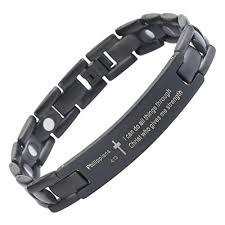 black prayer bracelet images Crosstraxx philippians 4 13 titanium prayer bracelet magnetic jpg