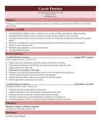 medical assistant resume templates jospar